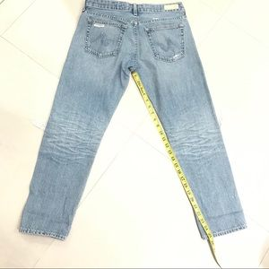 Ag Adriano Goldschmied Jeans - AG Piper Slouchy Slim Crop Destroyed Jeans